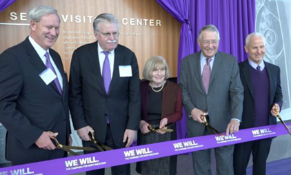 President Schapiro, Trustees Dedicate Segal Visitors Center